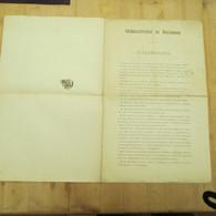Westvlaanderen 1886  Oud Hoogstudentenbond Vlaamse Beweging Brugge - Autres