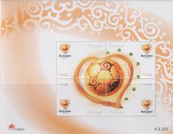 """Idee Europee - 2003 Portogallo """"Calcio Europeo"""" In Foglietto + S. Cpl 5v MNH** - European Ideas"""