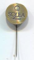 SOLEA - Cream Lotion Cosmetics, Vintage Pin, Badge, Abzeichen - Profumi
