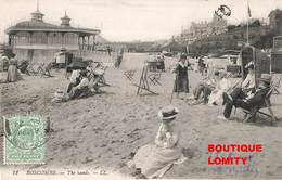 England Angleterre Boscombe The Sands Bournemouth Cpa Carte Animée Scene De Plage + Timbre Cachet 1910 - Otros
