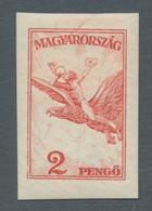 Ungarn: 1927-1930, Flugpostmarken Inklusive Ergänzungswerte, Der Komplette Satz Ungezähnt, Breitrand - Ungebraucht