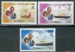 # TUVALU - 1981 - Royal Wedding Charles Diana - Set 3 Stamps MNH - Tuvalu
