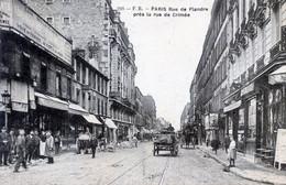 75   PARIS 19e  RUE DE FLANDRE PRES DE LA RUE DE CRIMEE - Distrito: 19