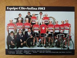 Cyclisme - Carte Publicitaire CILO AUFINA 1983 - Ciclismo