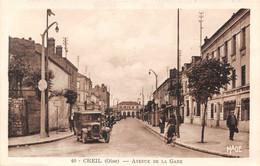 CREIL - Avenue De La Gare - Automobile - Creil