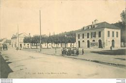 M. 64 GAN. La Mairie Et La Place 1908 - Other Municipalities