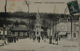 CPA  Gare Et Eglise De Vernonnet / Vernon (Ca 1052) - Vernon