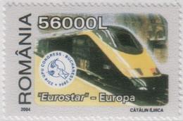 "Idee Europee - 2004 Romania ""Treni D'Europa"" 6v MNH** - European Ideas"