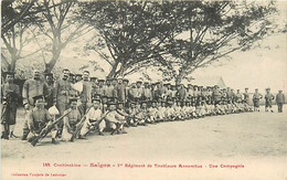 ASIE - VIET-NAM - COCHINCHINE - SAIGON - 1er REGIMENT DE TIRALLEURSANNAMITES - UNE COMPAGNIE - Vietnam