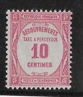 France Taxe N°56 - Neuf * Avec Charnière - TB - 1859-1955 Mint/hinged