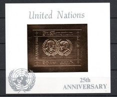 J1-6 Timbre En OR 23 Carats ** David Eisenhower Et JF Kennedy . Nations Unies  A Saisir !!! - Manama