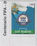 "Idee Europee - 2004 San Marino ""100° Anniversario Della FIFA"" 1v MNH** - European Ideas"