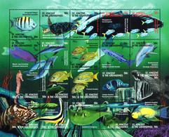 St. Vincent & Grenadines - 2000 - Fish Of The Caribbean - Mint Stamp Sheetlet - St.Vincent E Grenadine