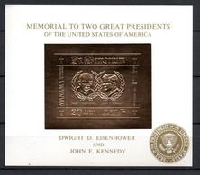 J1-6 Timbre En OR 23 Carats ** Memorial De 2 Grands Présidents David Eisenhower Et JF Kennedy  A Saisir !!! - Manama