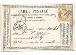 - MEURTHE - FROUARD - GC.1600 S/TP  Cérès IIIeme Rep. N°55 - Cachet à Date T.16 - 1873 - 1871-1875 Ceres