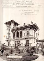 Monographies De Bâtiments Modernes N° 43 : Villa Des Bambous 65 Bd Croisette Cannes (06) - Architecture