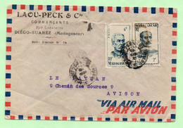 """Lettre à ENTETE : """"LAOU-PECK & Cie"""" - DIEGO-SUAREZ - - Covers & Documents"""