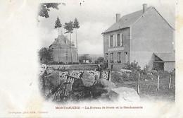 58 Nièvre - MONTSAUCHE - Le Bureau De Poste Et Le Gendarmerie - Cad 29 Avril 1904 BAZOCHES - - Montsauche Les Settons