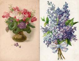 DC842 - Ak Schöne Motivkarten 2 Stück Blumen - Flores