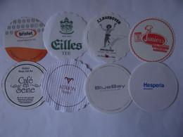 8 Pils/Kaffeedeckchen, Verschiedene Internationale Hotels, Cafes,  5) - Unclassified