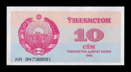 Uzbekistan 10 Sum 1992 Pick 64 SC UNC - Uzbekistan