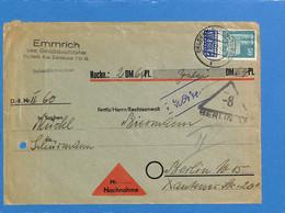 Allemagne Bizone 1951 Lettre De Gelsenkirchen (G1710) - American/British Zone