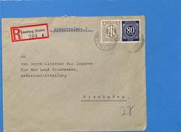 Allemagne Bizone 1946 Lettre De Limburg (G1719) - American/British Zone