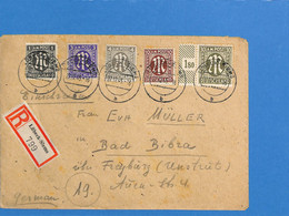 Allemagne Bizone 1945 Lettre De Lubeck - Siems (G1730) - Zona Anglo-Americana