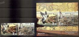 BOSNIA AND HERZEGOVINA  2020,POST Sarajevo,EUROPA CEPT,ANCIENT POSTAL ROUTES ,BLOCK,MAP,,BIRDS,MNH - 2020
