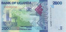UGANDA 2000 SHILINGS 2021 P- 50 UNC - Uganda