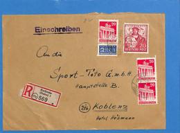 Allemagne Bizone 1949 Lettre De Karlsruhe (G1750) - Zone Anglo-Américaine