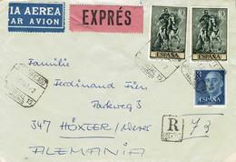 Spanien / Spain - Umschlag Echt Gelaufen / Cover Used (f1195) - 1961-70 Cartas