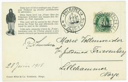 Norwegen FRAM-Karte POLHAVET AMUNDSEN 28.6.1918 An Marie Vollenweider,Lillehammer  Norway, Norvege, Noruega, Norvegia - Covers & Documents
