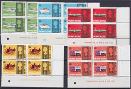 "HONG KONG - UK 1968, ""Ships"", 10 C. - 1 HK$ Blocks Of 4, Unmounted Mint, Superb - Asia (Other)"