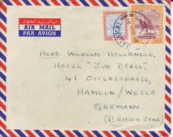 SUDAN    Luftpostbrief  Airmail Cover 1951 Malakal To Germany   Kamelreiter  Camel Post - Sudan (...-1951)