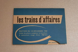 Horaire SNCF  Europe 1961 - Europa