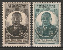 Madagascar 1945 Sc 259-60 Yt 298-9 Set MH* - Unused Stamps