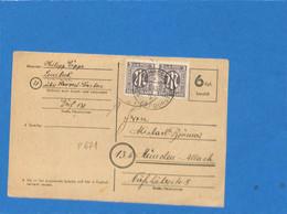 Allemagne Bizone 1946 Postkarte 6 Rpf. Bezahlt De Lembeck (G1761) - American/British Zone