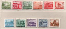 Ungarn 1953  Bauten 5 Jahresplan 11 Marken, Gestempelt Hungary Used - Gebraucht
