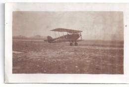 AVION BI PLAN  AU SOL  PHOTO SEPIA - Aviation