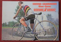 Cyclisme : Bernard Hinault , Champion Du Monde, Publicité Couvre Chaussures - Cycling