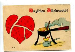 1889 Illustrateur Allemagne  Coeur Brisé - Sin Clasificación