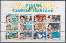 SAN MARINO  Block 21, Postfrisch **, Italienischen Schlager – Sänger Und Bildhafte Umsetzung Der Liedtitel, 1996 - Blocks & Sheetlets