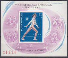 RUMÄNIEN Block 160, Postfrisch **, 4. Europäische Sportkonferenz Berchtesgaden, 1979 - Blocks & Kleinbögen
