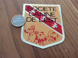 AUTOCOLLANT, Sticker *x «SOCIÉTÉ CANINE DE L'EST» (chien) - Aufkleber