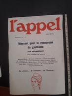 1975 MENSUEL POUR LE RENOUVEAU DU GAULISME BULLETIN D'ABONNEMENT - Organizaciones