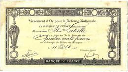 0 - PAP23243PAP - ACTIONS - VERSEMENT OR DEFENSE NATIONALE - 1916 - Bon état - THEMES - Unclassified