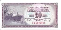 YOUGOSLAVIE 20 DINARA 1974 UNC P 85 - Yugoslavia