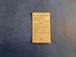 Bidprentje Priester JAN VANDENBERGHE Uit Menen---onderpastoor Proven En Poperinge---+ LEUVEN. - Obituary Notices