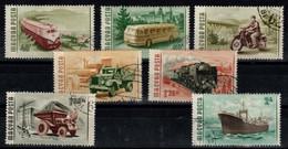HUNGARY-1955. Traffic - Transport / Bus/Train / Ship/  Cpl.Set (DH3) USED!! Mi : 1453-1459. - Gebraucht